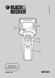 BDS303 - Servis - Black & Decker