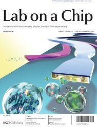 Miniaturisation for chemistry, physics, biology, & bioengineering