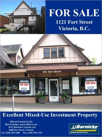 For Sale 1121 Fort Street, Victoria BC - DTZ