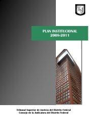 Plan Institucional 2008-2011 - Poder Judicial del Distrito Federal