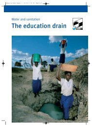 Water and Sanitation: The education drain - WaterAid