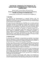 Gestión del aprendizaje no presencial en asignaturas ... - UPC