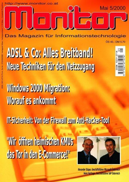 Die komplette MONITOR-Ausgabe 5/2000 können Sie