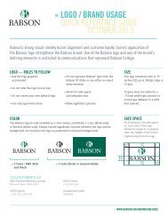 branding guidelines - Babson College