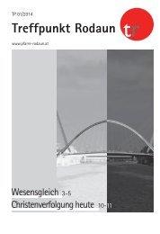 Jänner 2014 Wesensgleich - Jesus mein Brückenschlag - bgmweb.at