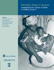 Mortality Study in Guinea: Investigating the Causes of Death ... - basics