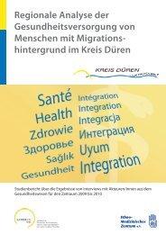 Regionale Analyse der Gesundheitsversorgung von ... - Integra-Netz