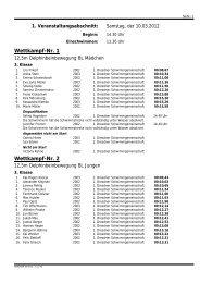 Wettkampf-Nr. 1 Wettkampf-Nr. 2 - 1dsg.de