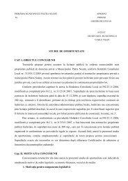 STUDIU DE OPORTUNITATE CAP. I. OBIECTUL CONCESIUNII ...