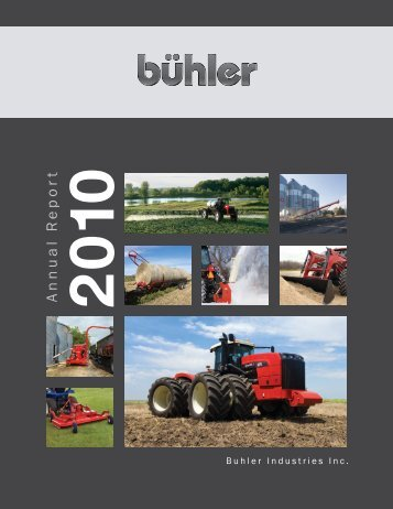 complete financial statement - Buhler Industries Inc.