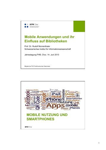 Mobile Anwendungen und ihr Einfluss auf Bibliotheken ... - KFH