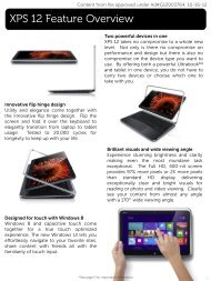 Dell Presentation Template Standard 4:3 Layout