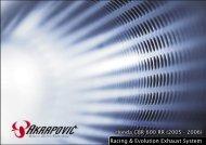 Honda CBR 600 RR (2005 - 2006) Racing & Evolution ... - Akrapovic