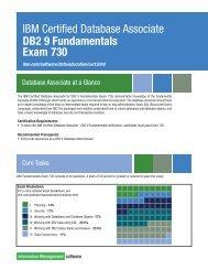 IBM Certified Database Associate DB2 9 Fundamentals Exam 730