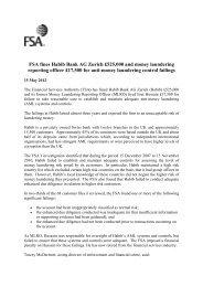 FSA vs Habib Bank AG Press Release - Frank-CS.org