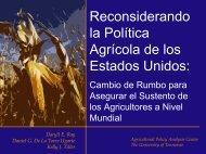 precio maíz - Agricultural Policy Analysis Center