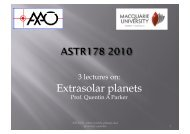 Extrasolar planets - Physics and Astronomy