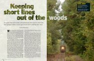 Keeping Short Lines out of the Woods - The Blanchard Company