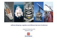Jefferies Shipping, Logistics and Offshore Services ... - Bourbon