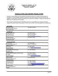 translators and sworn translators - Consulate General of the United ...