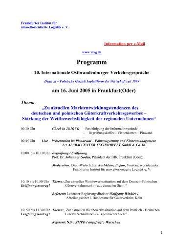 am 16. Juni 2005 in Frankfurt(Oder) Thema