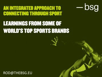 learnings from some of world's top sports brands - BrainJuicer