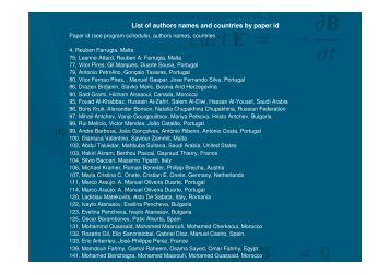 List of authors names and countries by paper id - EUROCON 2011