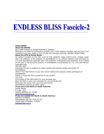ENDLESS BLISS FASCICLE-2 - The Quran Blog - Enlighten Yourself