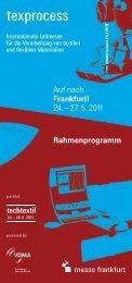 Rahmenprogramm - Texprocess - Messe Frankfurt