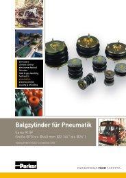 Balgzylinder für Pneumatik - Guedon.de