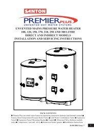 Santon Premier Plus Installation Guide - Advancedwater.co.uk