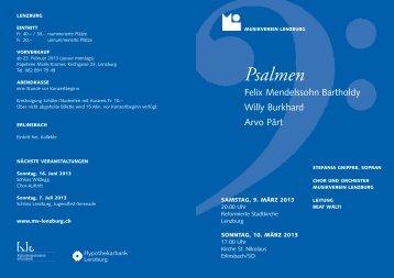 Konzertprogramm - Lenzburg