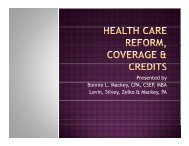 Healthcare Reform Coverage