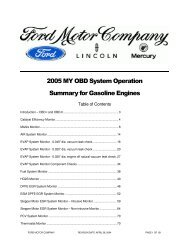 2005 MY OBD System Operation Summary for Gasoline Engines
