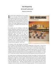 'Solo-Wargaming' (Featherstone) book - Lone Warrior Blog