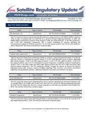 Satellite Regulatory Update - Futron Corporation