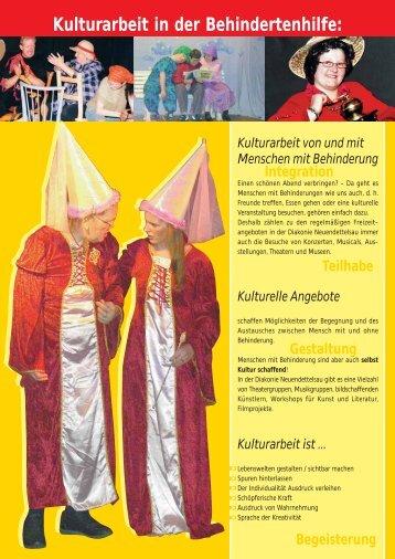 Kulturarbeit in der Behindertenhilfe: - Behindertenhilfe Neuendettelsau