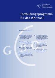 Fortbildungsprogramm für das Jahr 2011 - German Board of ...