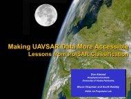 Making UAVSAR Data More Accessible - University of Alaska