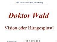 Dr. Wald - Vortrag - Märkisches Haus des Waldes