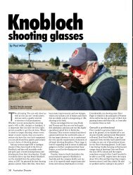 Shooting glasses Australian Shooter February 2013 - Frontier Arms