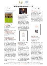 Neuheiten/New Editions 2012