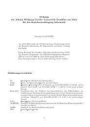 Ordnung der Johann Wolfgang Goethe–Universität Frankfurt am ...