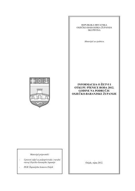 informacija o žetvi i otkupu pšenice roda 2012. godine na području ...