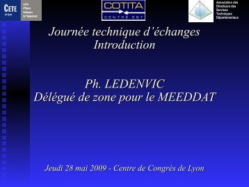 Introduction DREAL - CoTITA