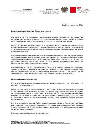 Info vom 1. Dez. 2011 - Joachim Poß