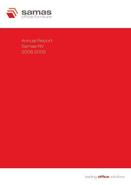Annual Report Samas NV 2008 2009 Annual ... - Alle jaarverslagen