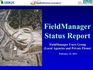 Field Manager Status Report - Michigan's Local Technical ...