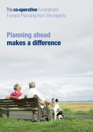 Planning ahead makes a difference - The Co-operative
