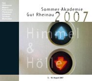 Sommer-Akademie Gut Rheinau - Sommerakademie Rheinau